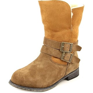 Bearpaw Carrie Round Toe Suede Mid Calf Boot