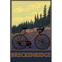 Breckenridge, CO - Mountain Bike - LP Artwork (Cotton/Polyester Chef's Apron)
