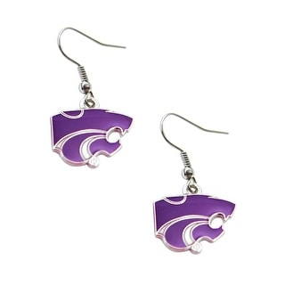 Kansas State Dangle Logo Earring Set NCAA Charm Gift