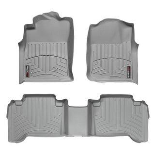 WeatherTech Toyota Tacoma 2005-2011 DoubleCab Grey Front & Rear Floor Mats FloorLiner 46021 1 3
