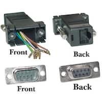 Modular Adapter, Black, DB9 Male to RJ45 Jack