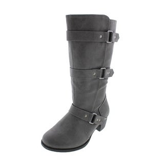 Easy Street Womens Barlow Faux Leather Harness Riding Boots