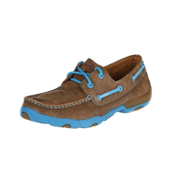 Twisted X Casual Shoes Womens Driving Moc Lace Up Bomber Blue