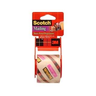 """Scotch Mailing Tape w/Dispenser 1.88x800"""" Clear"""