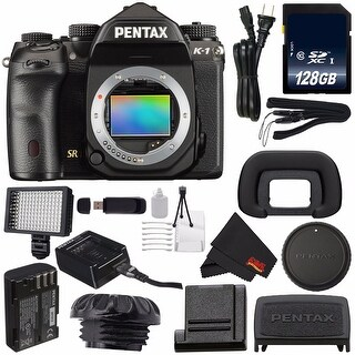 Pentax K-1 DSLR Camera #19568 (International Model) + 128GB SDXC Class 10 Memory Card Bundle