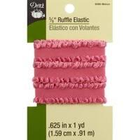 "Melon - Dritz Ruffle Woven Elastic 5/8""X1yd"