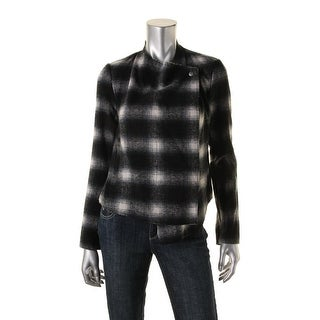 BB Dakota Womens Wool Blend Plaid Jacket