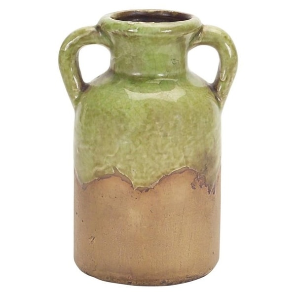 Shop pack of 6 charming country rustic clay jar with handles 7 brown free shipping today for Country garden 6 pack