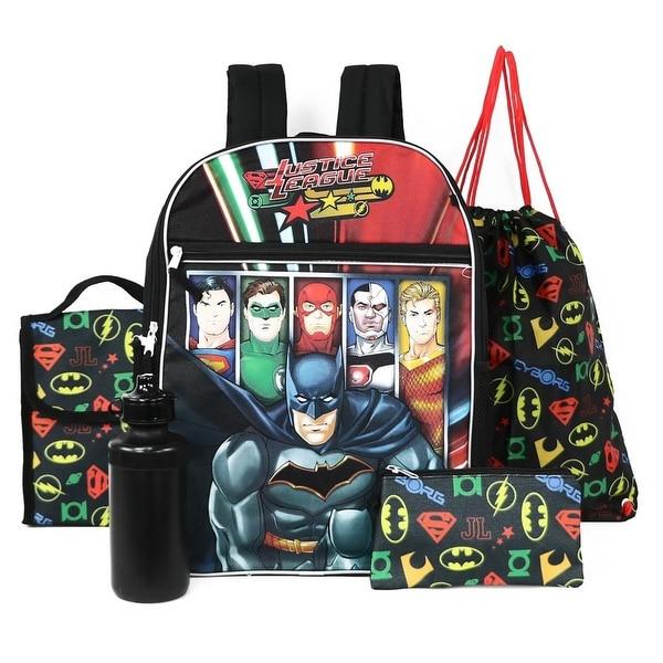 bcb74e9b8cf2 Justice League 5-Piece Backpack Lunchbag Set