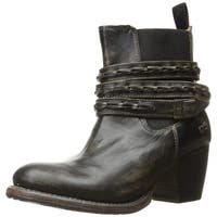BED STU Womens Lorn Leather Round Toe Ankle Chelsea Boots