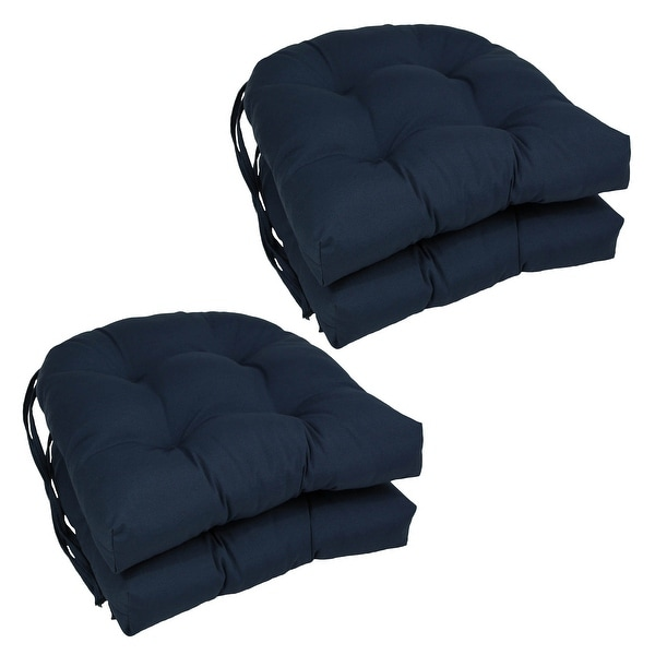 """Blazing Needles 16-inch U-Shaped Dining Chair Cushions (Set of 4) - 16"""" x 16"""". Opens flyout."""