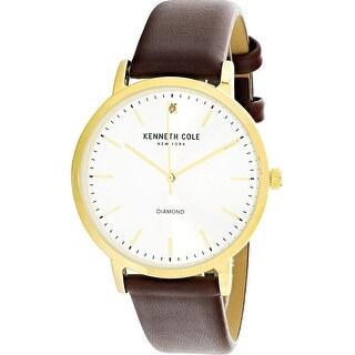 Kenneth Cole Men's KCC0120001 Gold Leather Japanese Quartz Fashion Watch