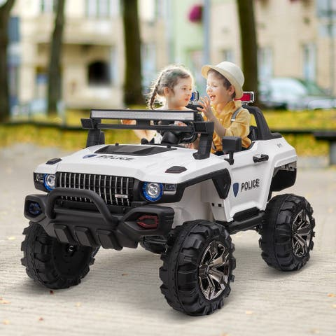 Aosom 12V 2-seat Ride On SUV Truck with Remote Control