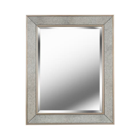 "Brielle Vintage Glam Wall Mirror Horizontal or Vertical - 24"" x 30"""