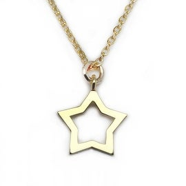 Julieta Jewelry Star Outline Charm Necklace