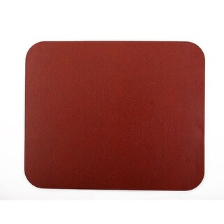 Faux Leather Rectangle Shaped Non-Slip Gaming Mouse Pad Brick Red for Computer