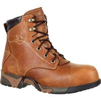"Rocky Women's 6"" Aztec Composite Toe Work Boot RKK0223 Brown Full Grain Leather"