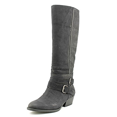Kenneth Cole Womens Raw Deal Leather Almond Toe Knee High Fashion Boots