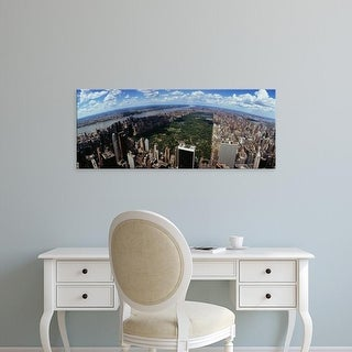 Easy Art Prints Panoramic Images's 'View of buildings in a city, Manhattan, New York City, New York State' Canvas Art
