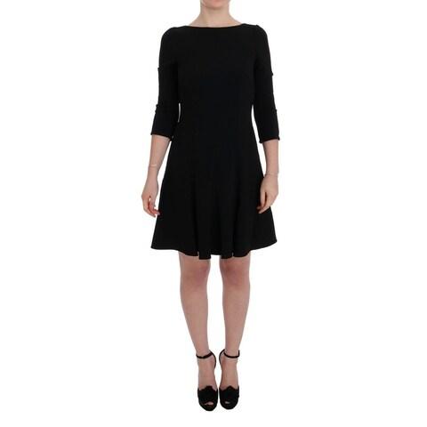 Dolce & Gabbana Dolce & Gabbana Black Stretch Shift Short Dress - it40-s