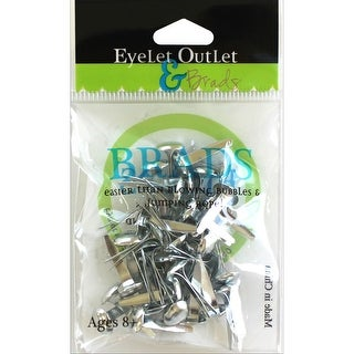 Eyelet Outlet Round Brads 8mm 40/Pkg-Silver