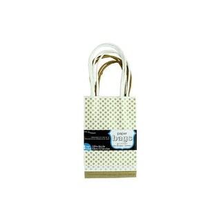 Coredinations Paper Bags 3.87x5x2 Glitter 4pc