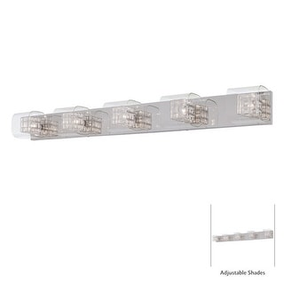 "Kovacs P5805 5 Light 47.25"" Bathroom Vanity Light from the Jewel Box Collection - Chrome"