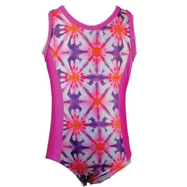 ef481b49a7f4 Shop Reflectionz Girls Hot Pink Starburst Patterned Tank Leotard 8 ...