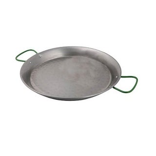 World Cuisine A4172447 Polished Carbon Steel 18.5 Inch Paella Pan