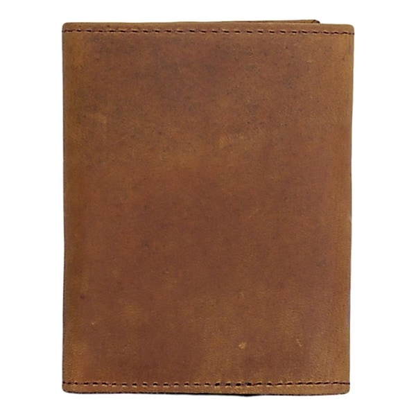 3D Western Wallet Mens Leather Trifold Distressed Brown - One size