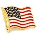 Waving American Flag Lapel Pin - Thumbnail 0