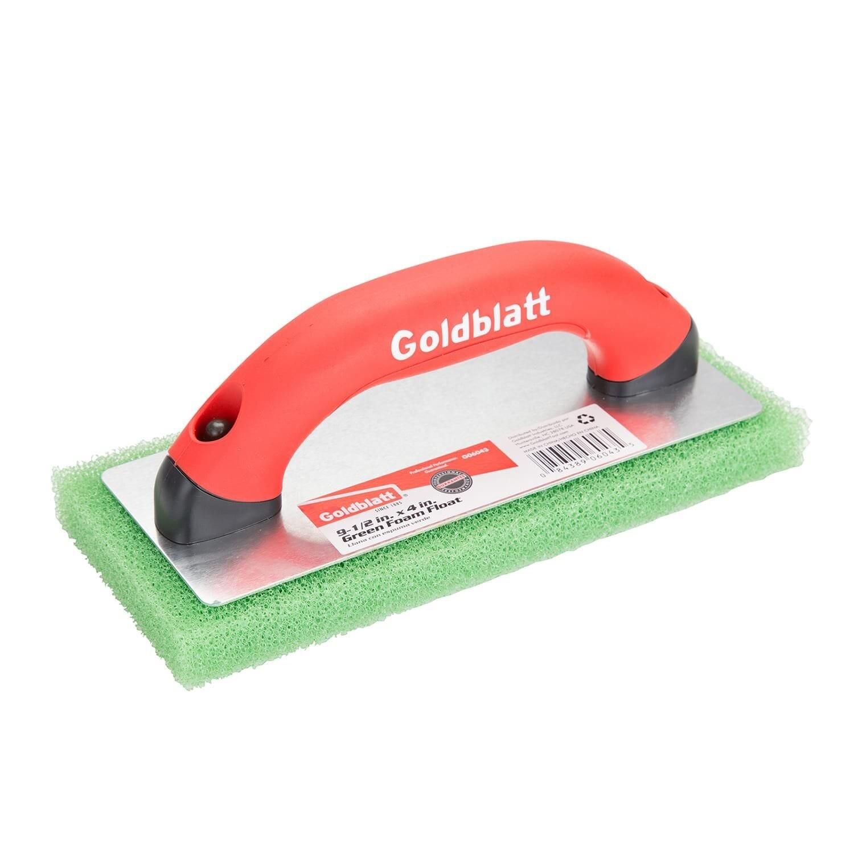 Goldblatt G06043 Green Foam Float with Soft Grip Handle, 9-1/2 x 4