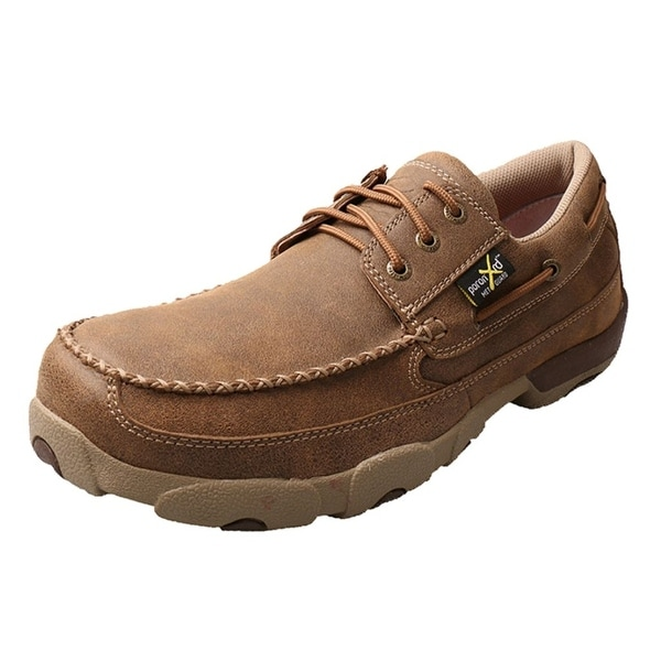 Twisted X Work Shoes Mens Driving Mocs ST Rubber Bomber