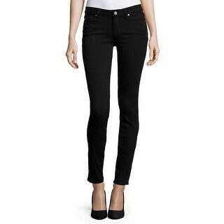 Paige NEW Deep Black Womens Size 26 Slim Skinny Stretch Jeans