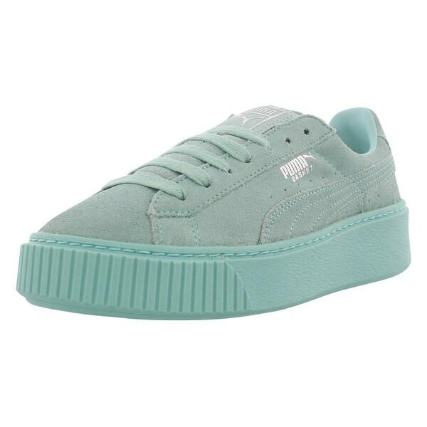 7f215463a138 Shop Puma Basket Platform Reset Casual Women s Shoes - On Sale ...