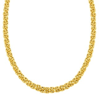 Byzantine Chain Necklace in Gold-Plated Sterling Silver - Yellow