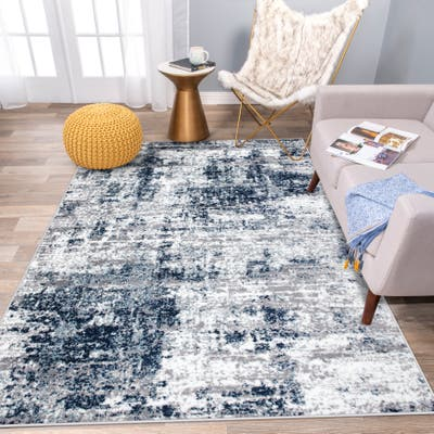 Distressed Abstract Area Rug