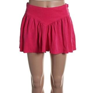 Zara Womens Solid Gathered Dress Shorts - S
