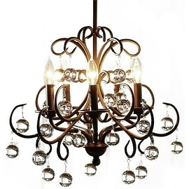 Traditional 5 Light Home Decorative Crystal Chandelier