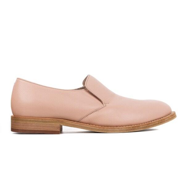 Baby Pink Leather Derby Slip