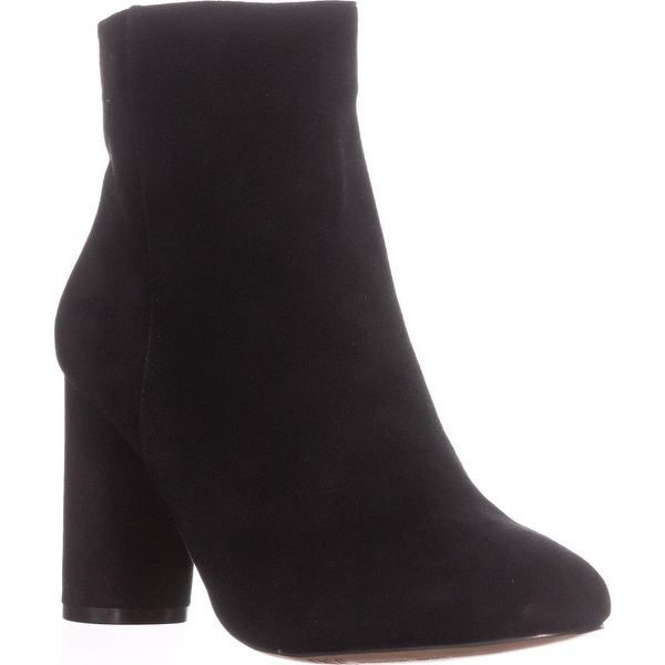 I35 Taytee Block Heel Dress Ankle Boots, Black Suede