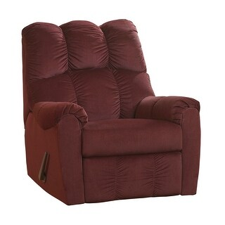 Offex Signature Design by Ashley Raulo Rocker Recliner in Burgundy Fabric