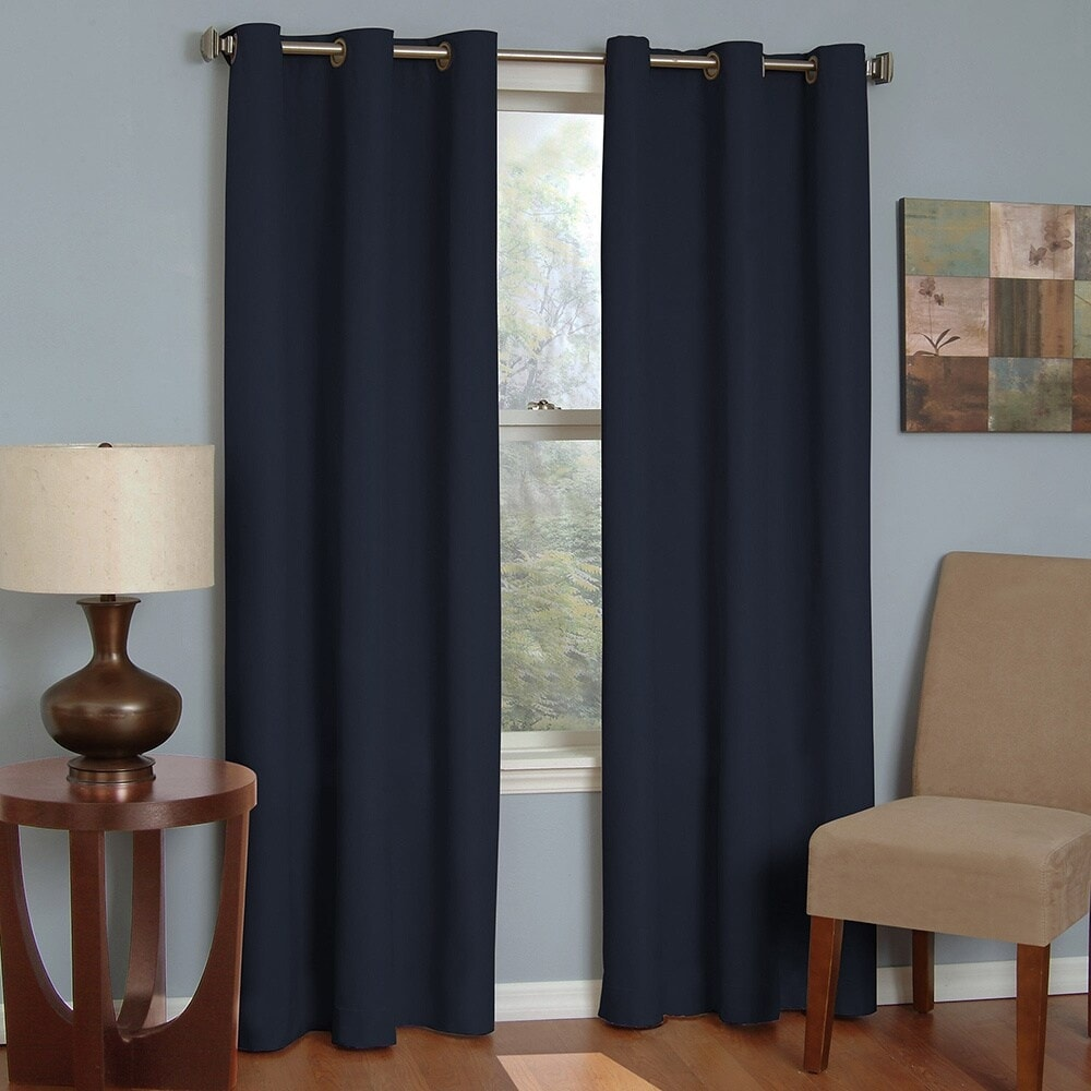 Eclipse Microfiber Grommet Blackout Window Curtain Panel On Sale Overstock 11002720