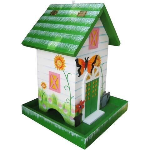 Home Bazaar HB-6008S Butterfly Bird Feeder, 1-3/4 lbs Capacity