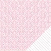 "Light Pink Damask - American Crafts Basics Double-Sided Cardstock 12""X12"" (12/Pack)"