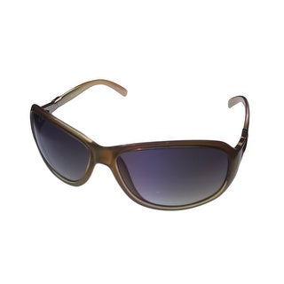 Ellen Tracy Womens Sunglass 526 3 Crystal Pearl Rectangle, Smoke Gradient Lens - Medium