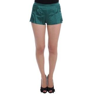 Dolce & Gabbana Green Silk Stretch Lace Lingerie Mini Shorts