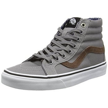 Vans Unisex Sk8-Hi Reissue (Cord & Plaid) Frost Gray Skate Shoe 12 Men US
