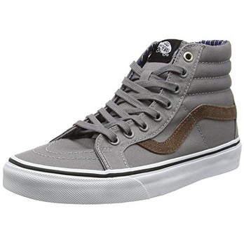 Vans Unisex Sk8-Hi Reissue (Cord & Plaid) Frost Gray Skate Shoe 9.5 Men US / ...