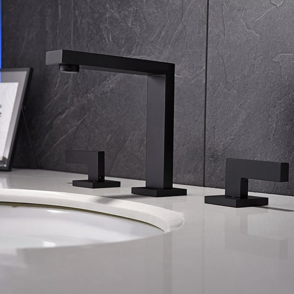 Matte Black Metal 2-handle Bathroom Faucet. Opens flyout.